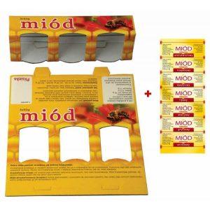 Pudełko zółte MIÓD 3x50g