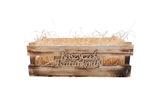 """Skrzynka prezentowa – """"Koszyczek Ratunkowy"""""""